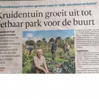 Kruidentuin groeit uit tot eetbaar park voor de buurt
